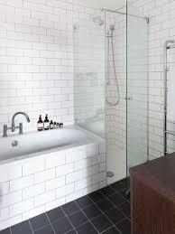 bathroom white tiles: saveemail ffe  w h b p scandinavian bathroom