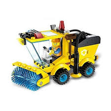 Small Particles City Series Sweeper Truck Construction Building ...