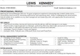 Retail Manager CV Sample Retail manager CV sample