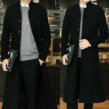 Mens Combat Single Breasted Wool Blend Military <b>Long Trench</b> ...