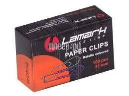 Купить <b>Скрепки Lamark 100шт</b> 33mm Colored PC0244 по низкой ...