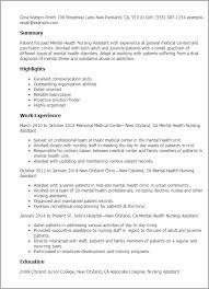 professional mental health nursing assistant templates to showcase    resume templates  mental health nursing assistant
