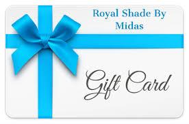 Gift Cards – Royal Shade By Midas