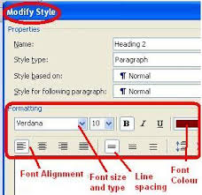 how to create a cv using ms word    format font