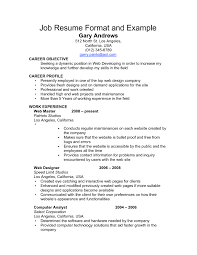 career resume format template career resume format
