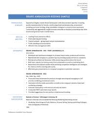 brand ambassador resume samples tips and templates online brand ambassador resume