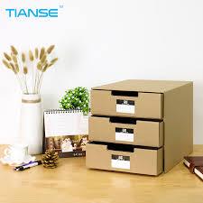TIANSE <b>kraft paper</b> desktop <b>storage box</b> 24.5*31.5*25cm for file ...
