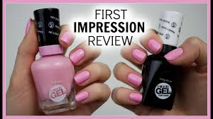 <b>Sally Hansen</b> Miracle <b>Gel</b> - First Impression Review - YouTube