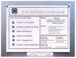 4 h refugee youth programs