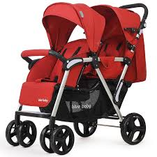 2 Babies Stroller Double Seat Front / Rear Reclining Portable ...