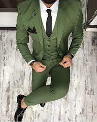 2018 <b>Latest Coat Pant Designs</b> Green Men Suit Business Slim Fit ...