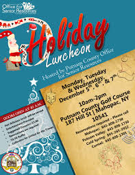 office of senior resources annual holiday party is coming in holidayluncheonosr2016 page 1