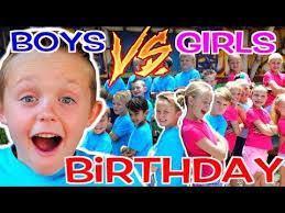 BOYS vs <b>GIRLS</b>! Kadens <b>Birthday Party</b> Challenge! <b>Kids</b> Fun TV ...