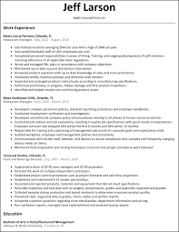 restaurant manager resume net restaurant manager resume example