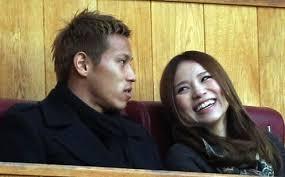 Keisuke Honda with beautiful, Wife Misako Honda