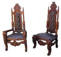 carved huge carved gothic king lion dining chair new baumhaus mobel oak upholstered dining chair