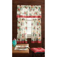 Kitchen Curtains At Walmart Pioneer Woman Kitchen Curtain And Valance 3pc Set Country Garden