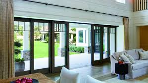 large sliding patio doors: large opening multi panel sliding door