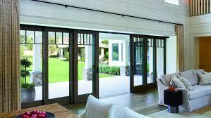 large sliding patio doors: large opening multi panel sliding door