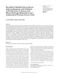 (PDF) <b>PectaSol</b>-<b>C Modified Citrus</b> Pectin Induces Apoptosis and ...