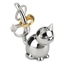 <b>Подставка для колец</b> Umbra <b>Zoola</b> Кошка хром — купить в ...