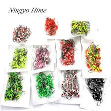 <b>50Pcs</b>/<b>lot</b> Winter Ice Fishing Lure <b>Mini</b> Metal Lead Head Hook Bait ...