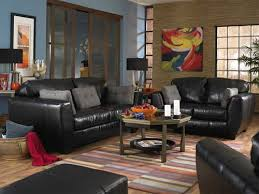 living room ideas with black leather sofa home interior design black leather living room