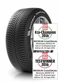 <b>MICHELIN CrossClimate</b> - Arm yourself for every weather condition.
