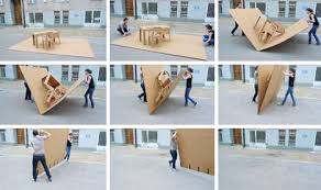 portable pop up office all in one cardboard furniture set cardboard office furniture