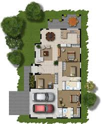 COLORED FLOOR PLANS FOR HOUSES   Over House PlansHow to Draw Color Floor Plans   eHow com