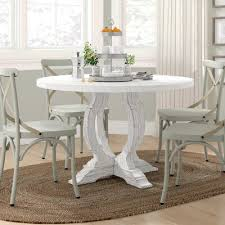 Caigan <b>Solid Wood</b> Dining Table Ophelia Co Color White