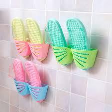 Bathroom Slippers <b>Simple</b> Bathroom Wall Behind The Small ...