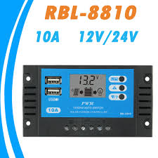 <b>PWM</b> 10A <b>Solar Charge Controller</b> 12V 24V Auto LCD <b>Solar</b> ...