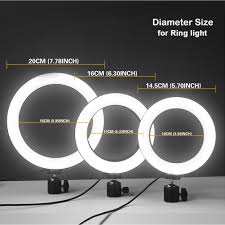 26cm/20cm/<b>16cm</b> Three Kinds Of <b>Ring Light</b> Lamp Table Dimmable ...