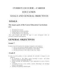 careers goals sample goals and objectives smart iep goals sample