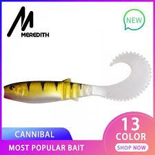 MEREDITH <b>90mm</b> 110mm Cannibal Curved Tail Fishing <b>Lures</b> ...