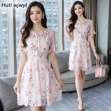 <b>Summer</b> Chiffon Floral Dress Plus size Boho Dress 2019 Elegant ...