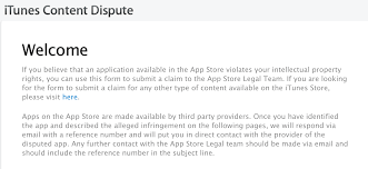 apple has app store app ip infringement dispute portal apparently apple has app store app ip infringement dispute portal apparently begins rejecting infringing apps 9to5mac