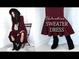 DIY Valentine's <b>Sweater Dress</b> (<b>Korean</b> Sub) - YouTube