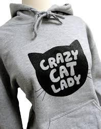 <b>Crazy Cat Lady</b> Hoodie CAT <b>Silhouette</b> Grey Sweatshirt | Etsy