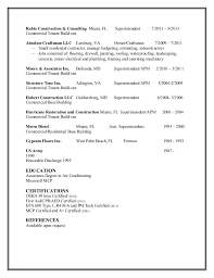 reneman superintendent resume superintendent resume