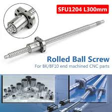 <b>SFU1204</b> L300mm <b>Ball</b> Screw + Single <b>Ball</b> Nut End Machined <b>Ball</b> ...