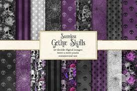 <b>Gothic Skull Patterns</b> | Digital paper free, <b>Gothic skulls</b>, <b>Gothic pattern</b>