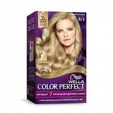 <b>WELLA</b> COLOR PERFECT <b>Крем</b>-<b>краска</b> 140г <b>Стойкая</b> № 9/1 ...
