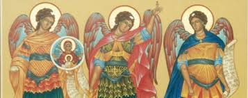 Image result for images:Saints Michael, Gabriel and Raphael, Archangels