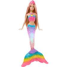 barbie rainbow lights mermaid doll barbie doll