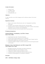restaurant management resume objective cipanewsletter sample resume objectives for hotel and restaurant management
