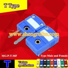 <b>T Type</b> mini thermocouple connector flat <b>pin</b> male and female-in ...
