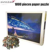 <b>MOMEMO</b> Starry Train Jigsaw 1000 Pieces Puzzle Paper Puzzle ...