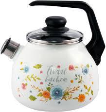 """<b>Чайник Appetite</b> """"Floral Kitchen"""", со свистком, <b>3 л</b>"""